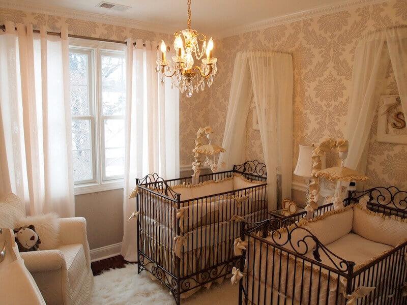 decoracao do quarto de bebe estilo classico