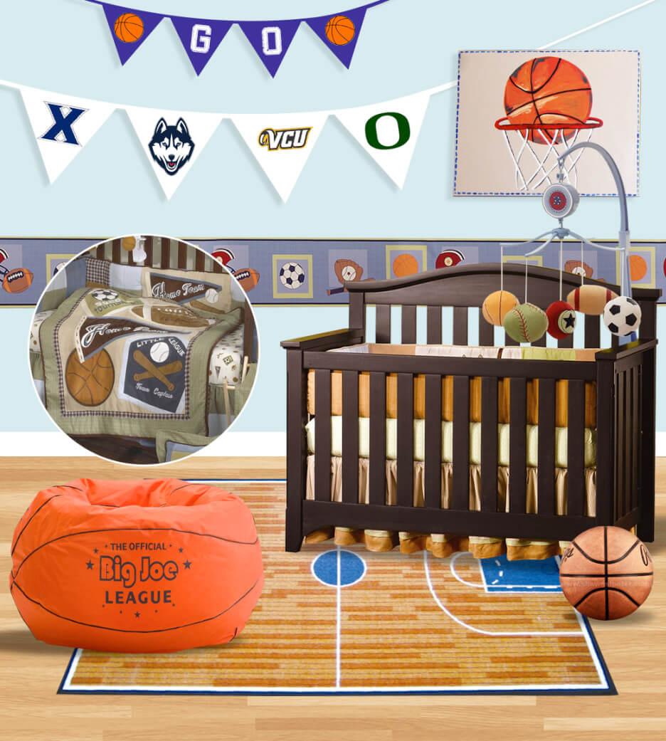 decoracao do quarto de bebe estilo esportivo