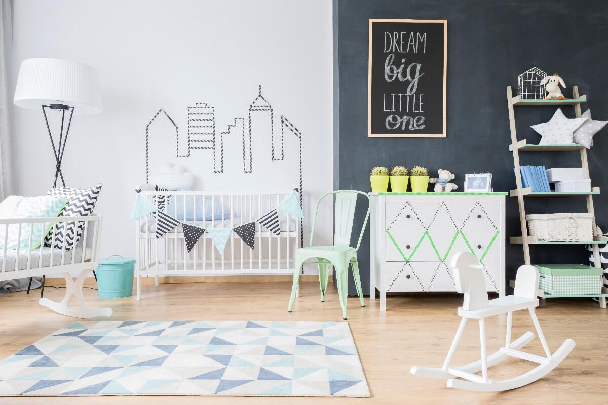 decoracao do quarto de bebe estilo moderno