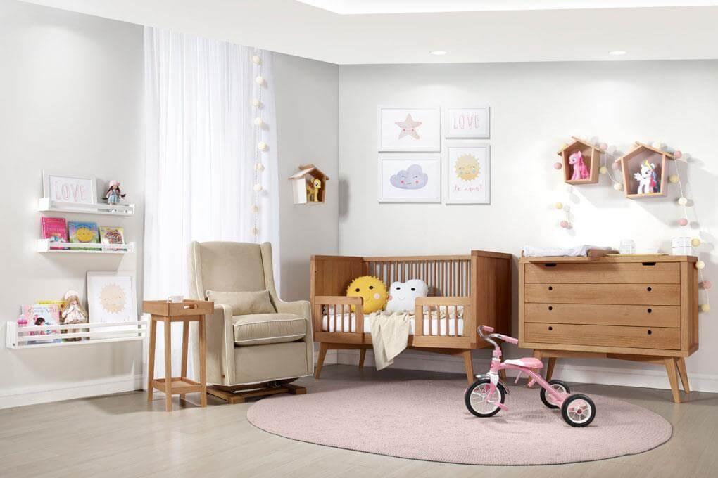 decoracao do quarto de bebe estilo retro