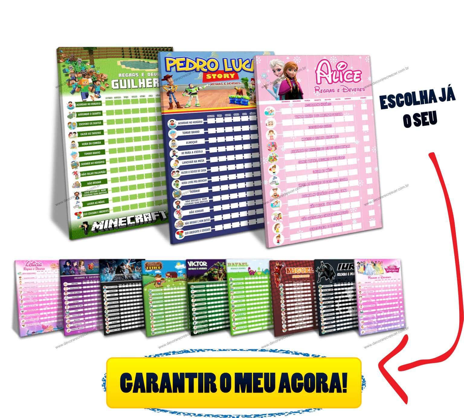 Well-known Quadro de Incentivo Infantil CUIDADO!!! 【 NÃO COMPRE SEM LER 】 VY14